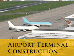 airport construction vertical banner