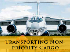 transporting non priority cargp vertical